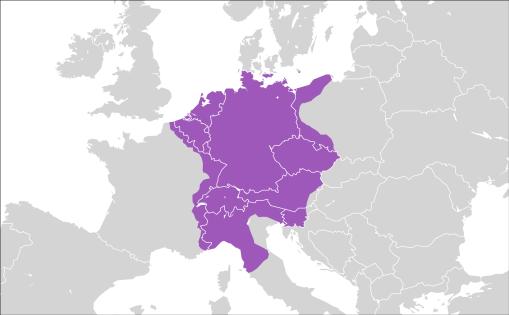 Sacro Imperio Romano Germánico alrededor de 1600